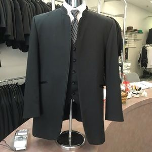 Black Retro Mirage Tuxedo Jacket